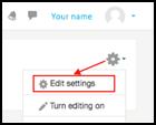 course edit settings